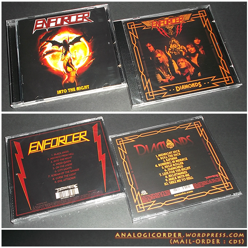 ENFORCER : Into The Night CD + Diamonds CD // pack 2CDs