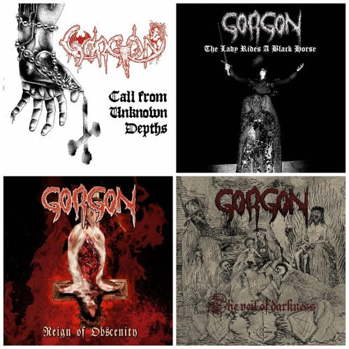 GORGON : Call From + Lady Rides + Reign Of + The Veil //pack 4CDs