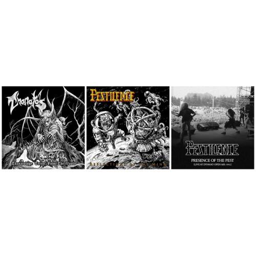 THANATOS - Thanatology DCD + PESTILENCE : ReflectionsMind + PresencePest //3CDs***