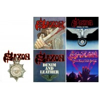SAXON (5CDs) : Saxon + WheelsSteel + Strong Arm Law + Denim Leather + PowerGlory //PACK